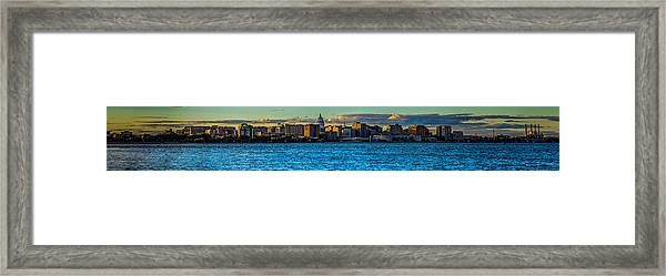 Madison Twilight Panorama Framed Print