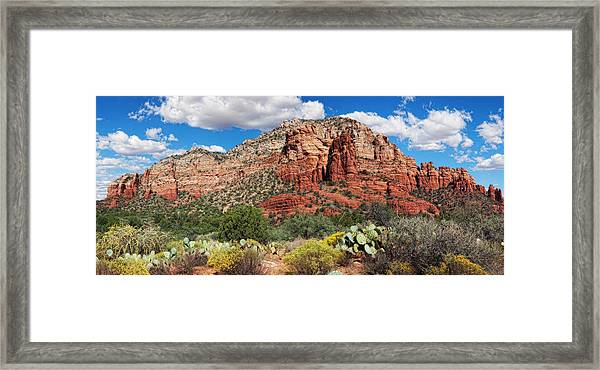 Madonna And Child Panorama Framed Print