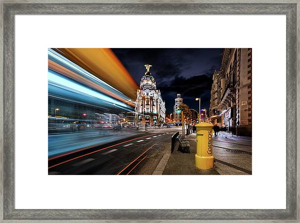 Madrid City Lights IIi Framed Print