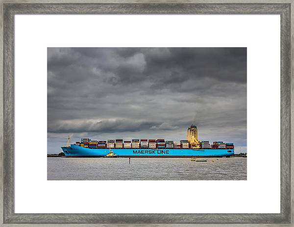 Maersk Container Ship. Framed Print