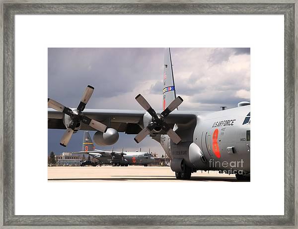 Maffs C-130s At Cheyenne Framed Print