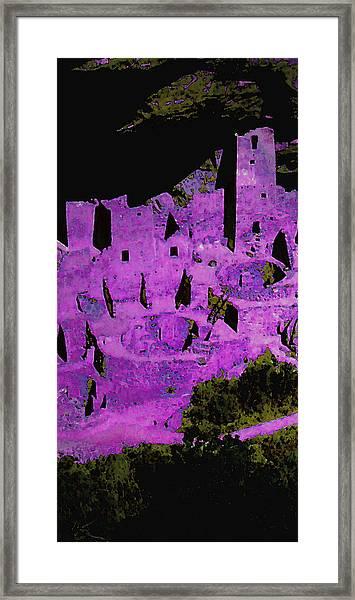 Magenta Dwelling Framed Print