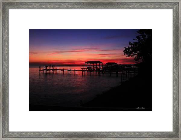 Magenta Evening  Framed Print