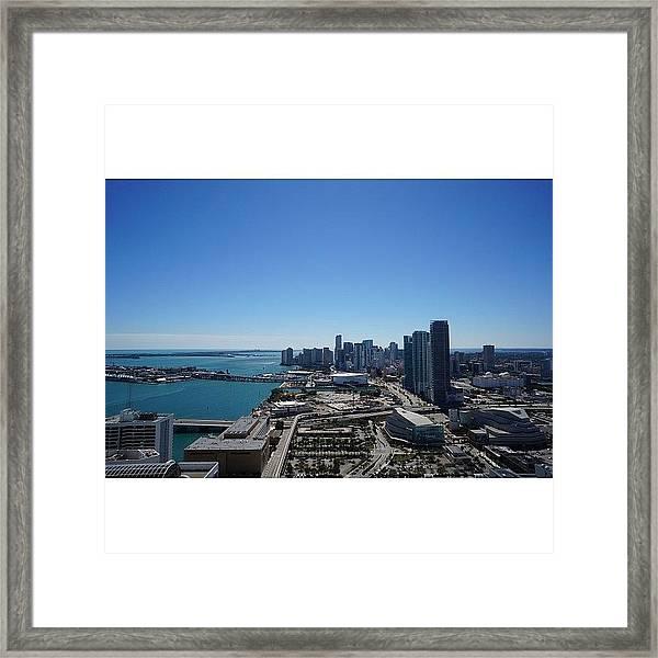 Magic City Skyline Framed Print