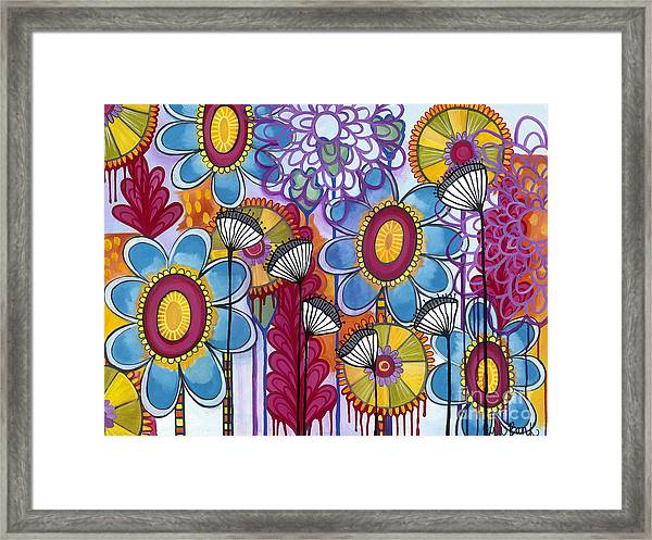 Framed Print featuring the painting Magic Garden by Carla Bank