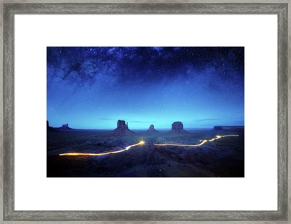 Magic Monument Valley Framed Print