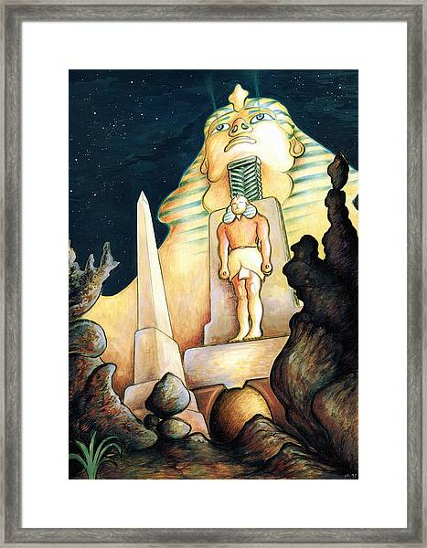Magic Vegas Sphinx - Fantasy Art Painting Framed Print