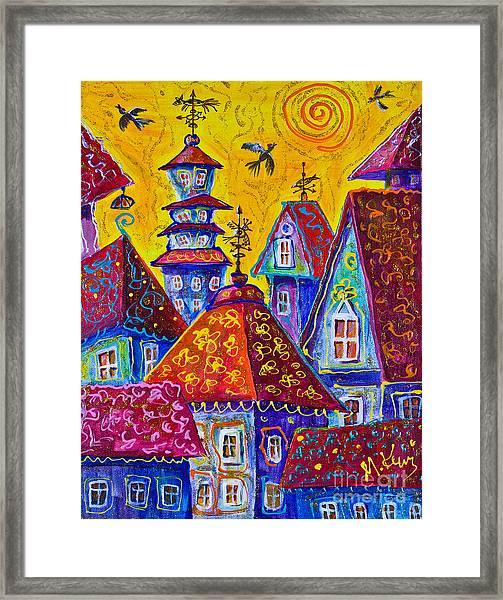 Magic Town 3 Framed Print
