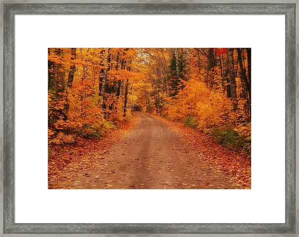 Magical Autumn Mystery Framed Print