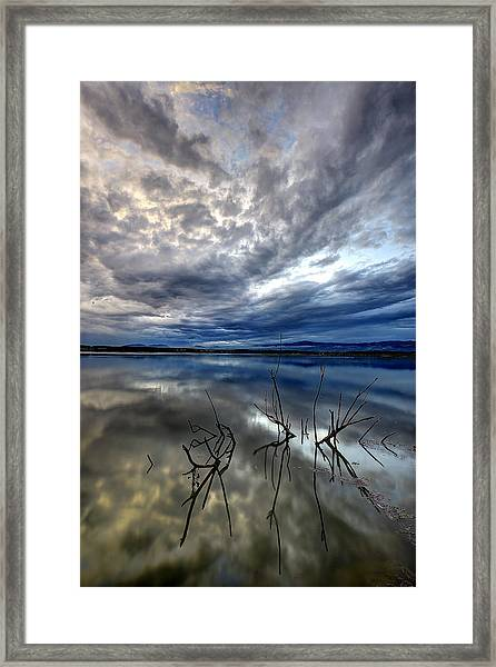Magical Lake - Vertical Framed Print