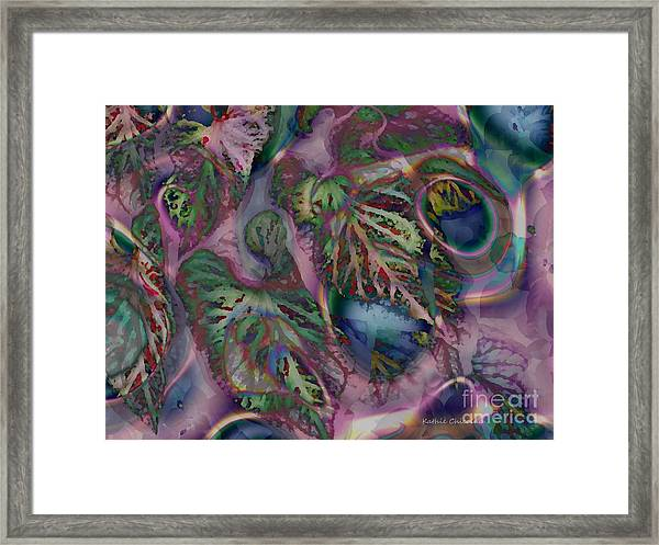 Magical Leaves And Rings Framed Print
