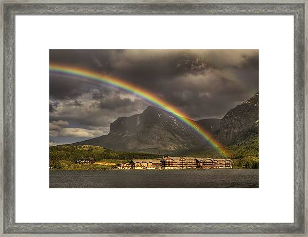 Magical Many Glacier Framed Print