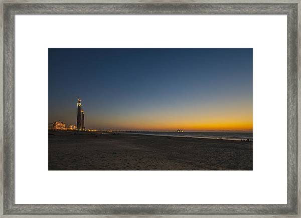 magical sunset moments at Caesarea  Framed Print