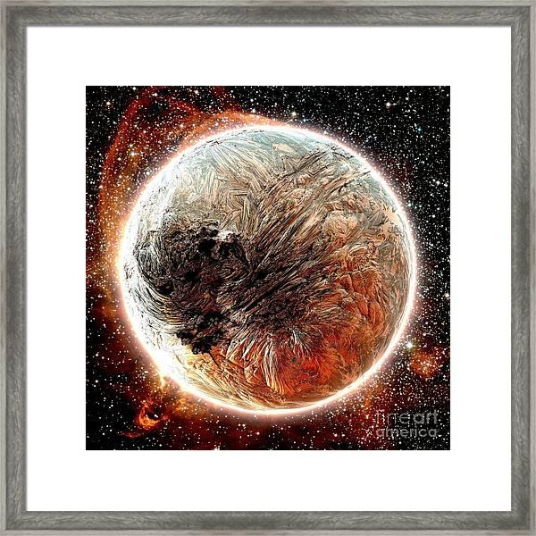 Magma Planet Framed Print by Bernard MICHEL