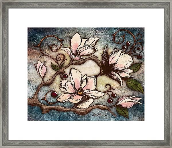 Magnolia Branch I Framed Print