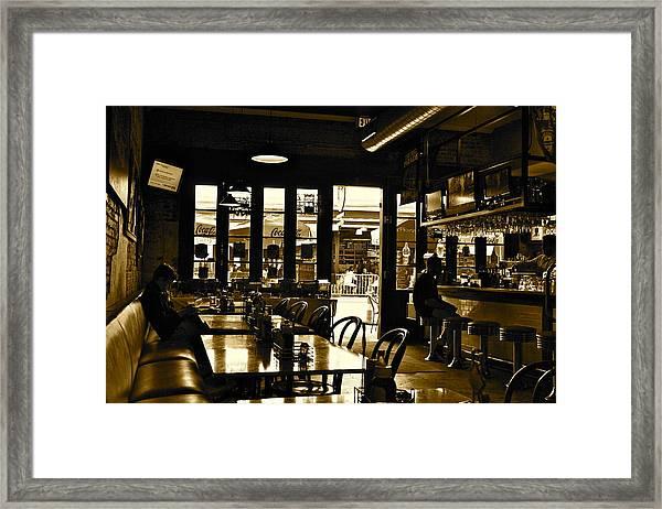 Magnolia Grill Framed Print