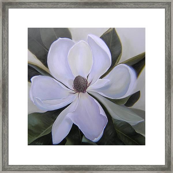 Magnolia Square Framed Print