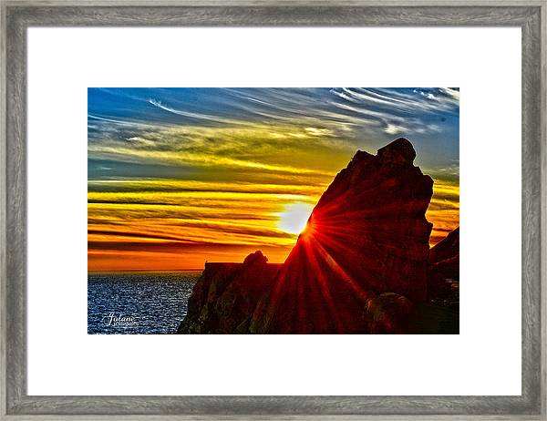 Mugu Rock Sunset Framed Print