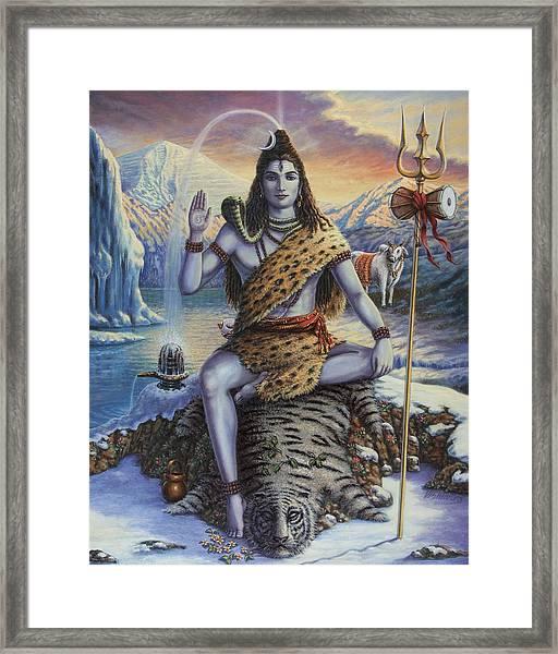 Mahadeva Shiva Framed Print
