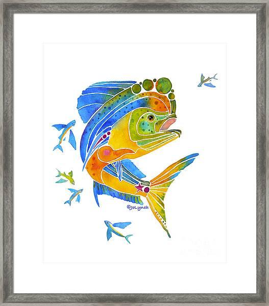 Mahi Saltwater Fish Art Gifts Framed Print