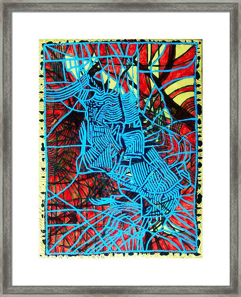 Maiden In Blue - Mary In The Temple Framed Print