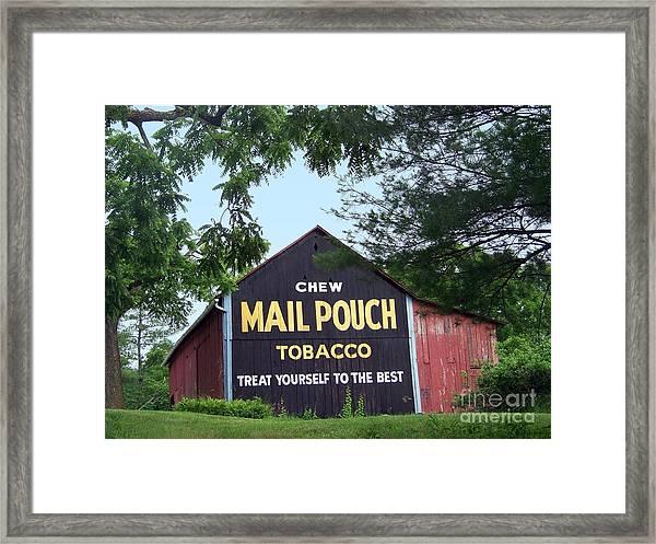 Mail Pouch Barn Framed Framed Print
