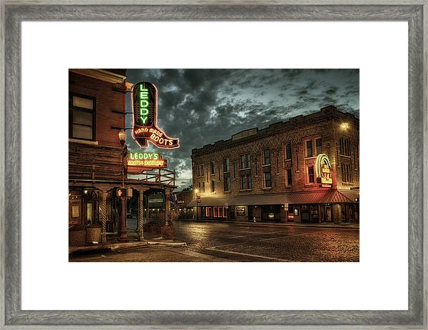 Main And Exchange Framed Print