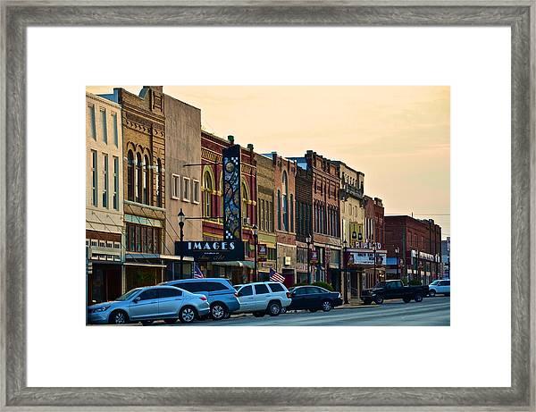Main Street Denison Framed Print