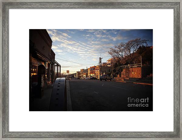 Main Street Jerome Arizona Framed Print