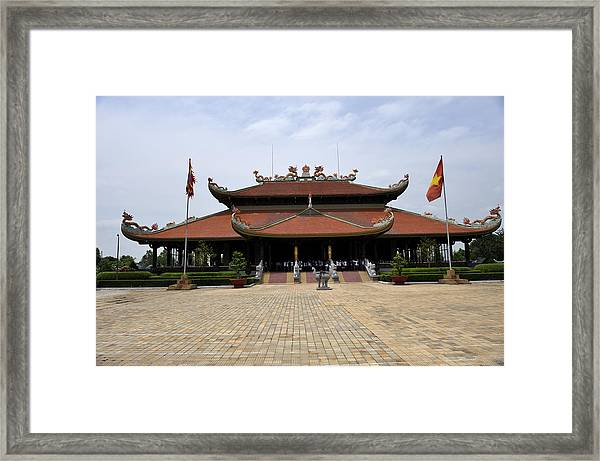Main Temple Of The Ben Duoc Monument To War Martyrs. Cu Chi, Vietnam Framed Print by Sheldon Levis