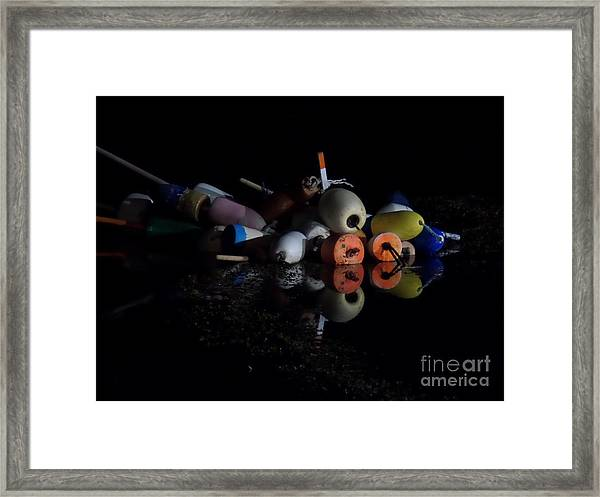 Maine After Dark Framed Print