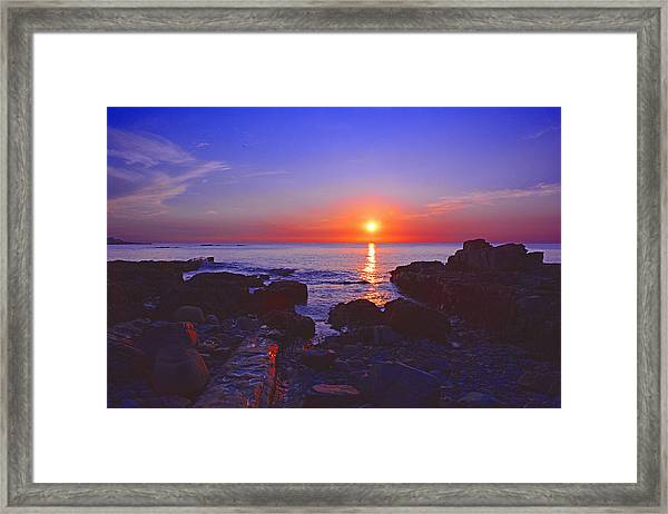 Maine Coast Sunrise Framed Print
