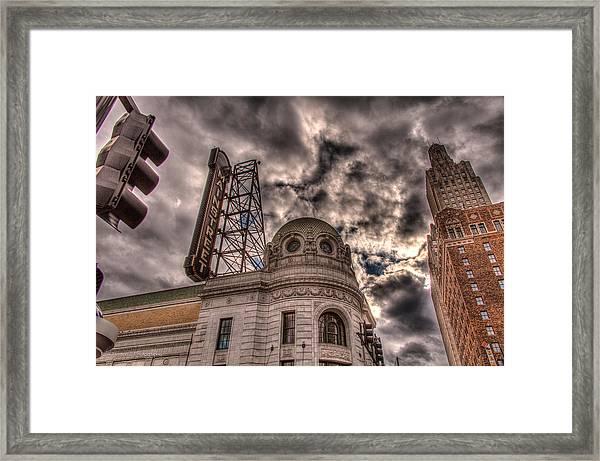 Mainstreet Theater Framed Print