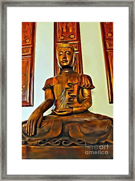 Majestic Buddha Framed Print
