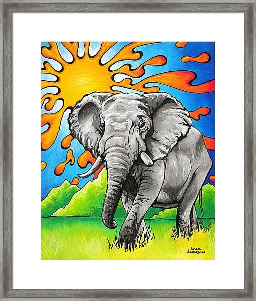 Majestic Elephant Framed Print