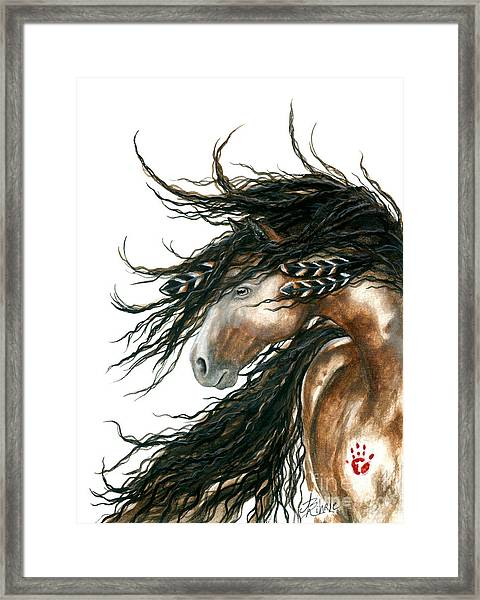 Majestic Pinto Horse 80 Framed Print