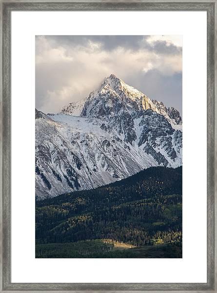 Majestic Light - Mt. Sneffels  Framed Print