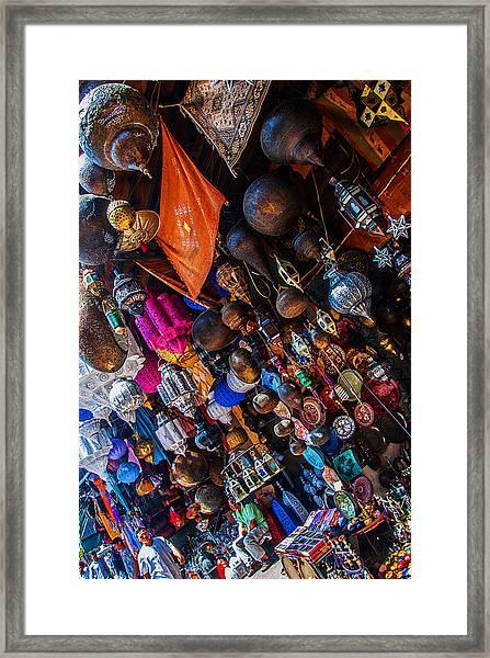 Marrakech Lanterns Framed Print
