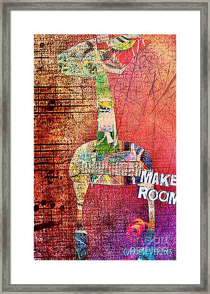 Make Room Framed Print by Currie Silver