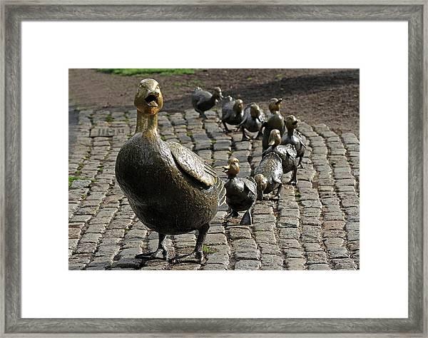 Make Way For Ducklings Framed Print