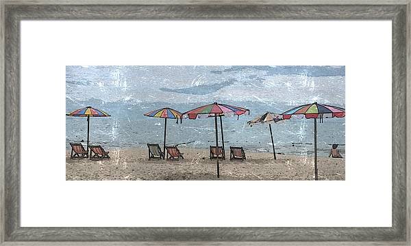 Malazy Day At The Beach Framed Print