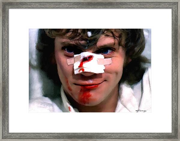 Malcolm Mcdowell As Alex In The Film Clockwork Orange By Stanley Kubrick 1971 Framed Print