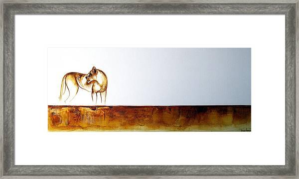 Lioness - Original Artwork Framed Print
