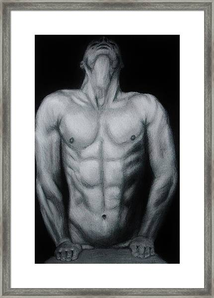 Male Nude Study Framed Print
