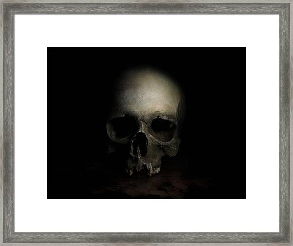 Male Skull Framed Print