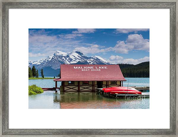 Maligne Lake Framed Print