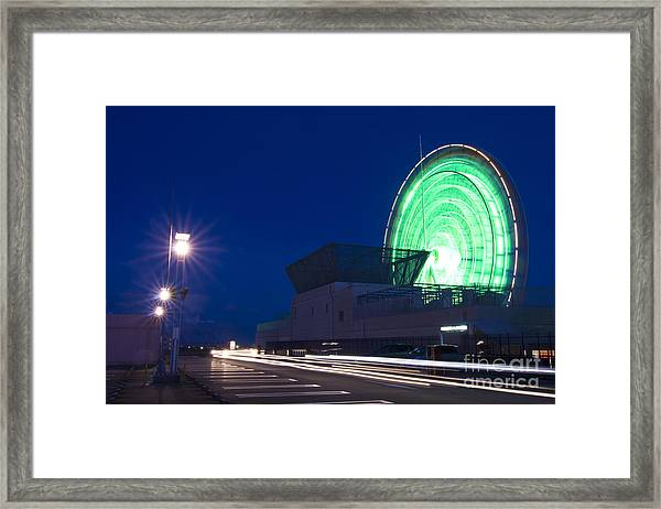 Mall Parking Lot With Ferris Wheel Framed Print