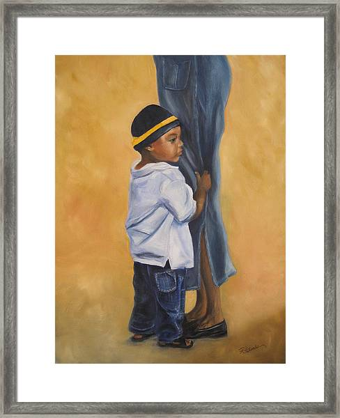 Mama Look Framed Print