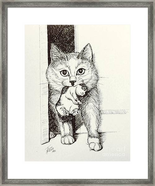 Mama On The Move Framed Print