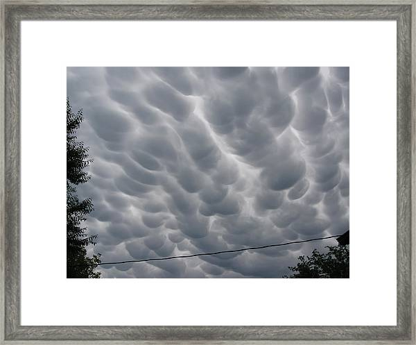 Mammatus Clouds Over Yorkton Framed Print